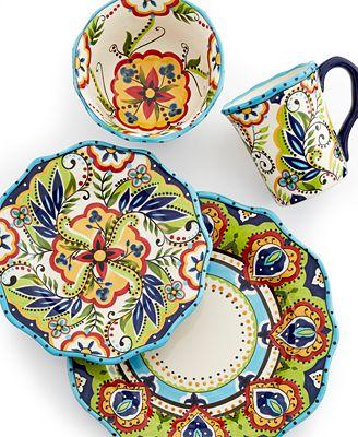 Espana Bocca Scalloped 4-Piece Place Setting - Dinnerware - Dining ...
