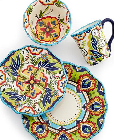 espana bocca scalloped 4piece place setting dinnerware
