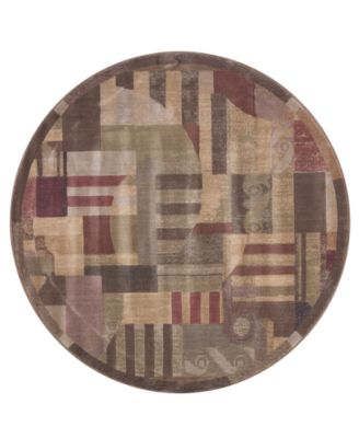 CLOSEOUT! Round Area Rug, Somerset ST22 Clarkstown Multi 5' 6""