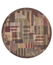 CLOSEOUT! Nourison Round Area Rug, Somerset ST22 Clarkstown Multi 5' 6""