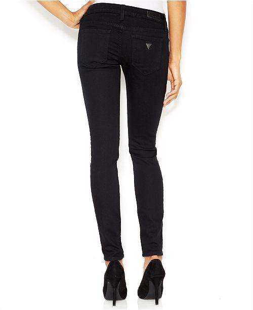 GUESS Power Low-Rise Skinny Jeans - Jeans - Women - Macy s 1987ff9cbe