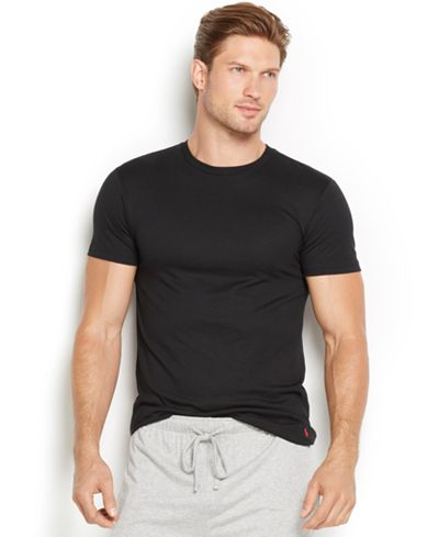 Polo Ralph Lauren Men's Supreme Comfort Crew-Neck T-Shirt (Red or Blue) $26 at  macys.com + FS online deal
