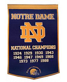 Winning Streak Notre Dame Fighting Irish Dynasty Banner