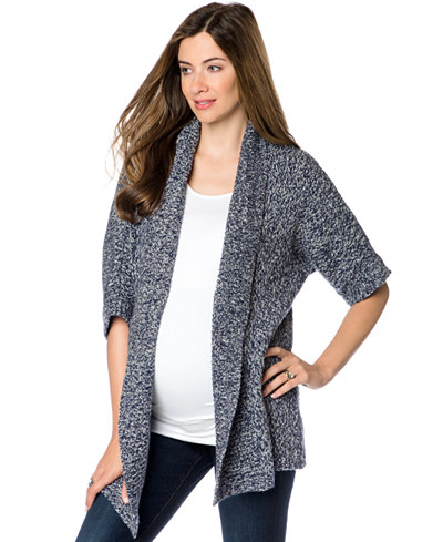 A Pea In The Pod Maternity Short-Sleeve Open-Front Cardigan