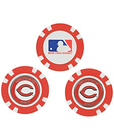 Cincinnati Reds 3-Pack Poker Chip Golf Markers