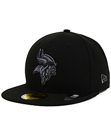 New Era Minnesota Vikings Black Gray 59FIFTY Cap