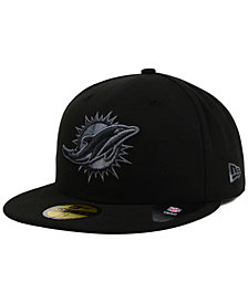 New Era Miami Dolphins Black Gray 59FIFTY Cap