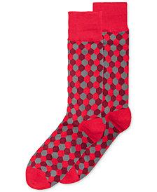 Alfani Hexagon Crew Socks, Created for Macy's