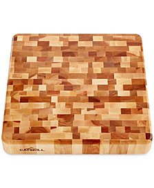 Catskill End Grain Slab Butcher Block with Finger Slots