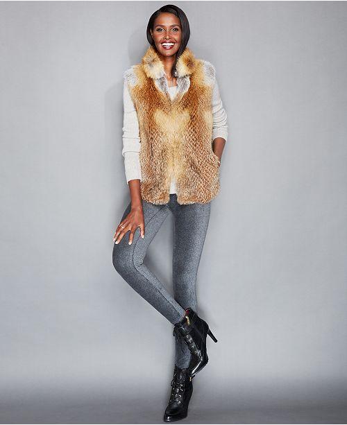 55014c5d170 The Fur Vault Natural Red Fox Fur Vest   Reviews - The Fur Vault ...