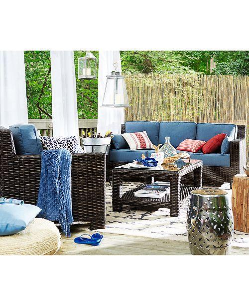 main image - Furniture Viewport Wicker Outdoor Sofa With Sunbrella® Cushions