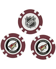 Phoenix Coyotes 3-Pack Poker Chip Golf Markers