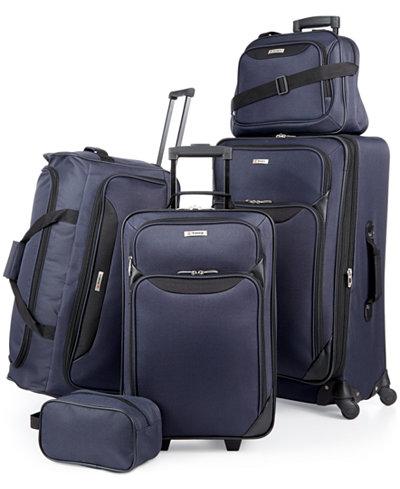 Tag Springfield III 5 Piece Luggage Set, Created for Macy's
