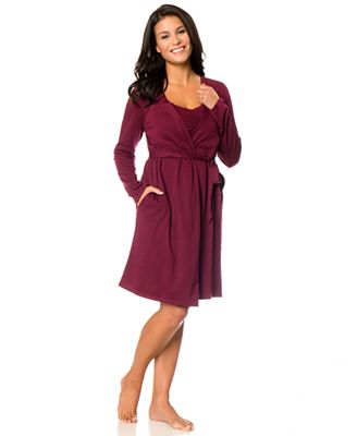 Bump In The Night™ 2-Piece Nursing Pajama Set - Maternity - Women ...