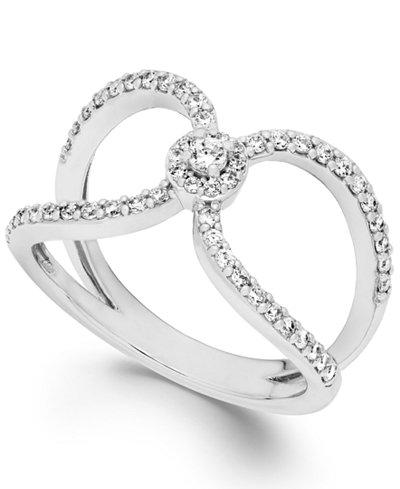 Diamond Cutout Ring in 14k White Gold (1/2 ct. t.w.)