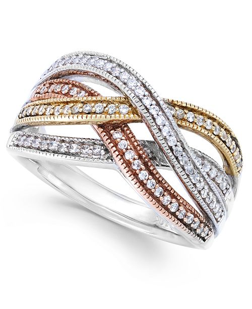ring qrtr centers rings diamond three royal bypass star