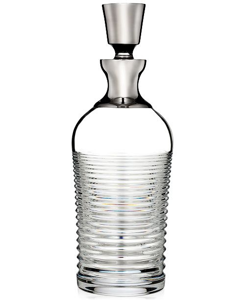 Waterford Mixology Mad Men Edition Circon Decanter with Platinum Band