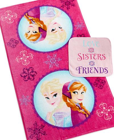 Disney's Frozen, Snowflakes 2-Pc. Bath & Wash towel set