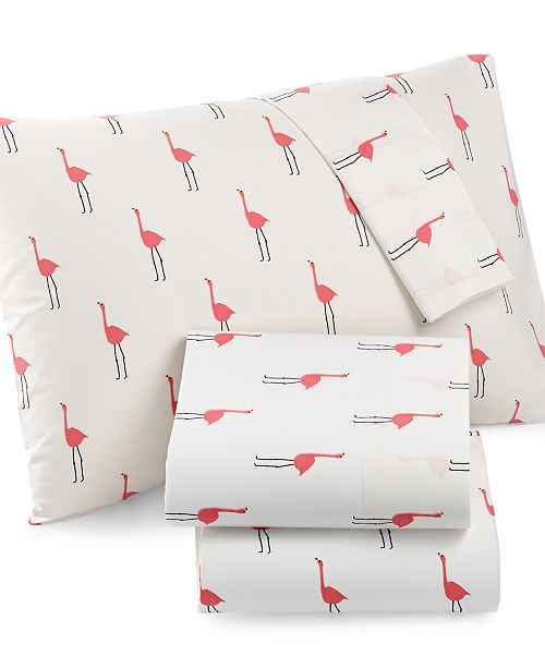 Martha Stewart Collection Whim by Martha Stewart  Collection Novelty Print Full 4-pc Sheet Set, 200 Thread Count 100% Cotton Percale, Created for Macy's