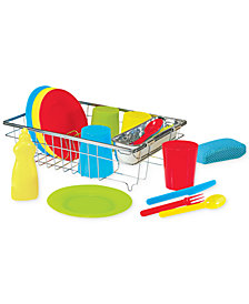 Melissa and Doug Kids' Let's Play House Wash & Dry Toy Dish Set