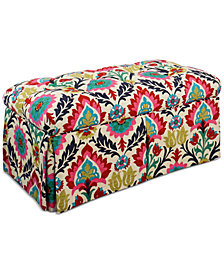 Marin Santa Maria Fabric Storage Bench, Quick Ship