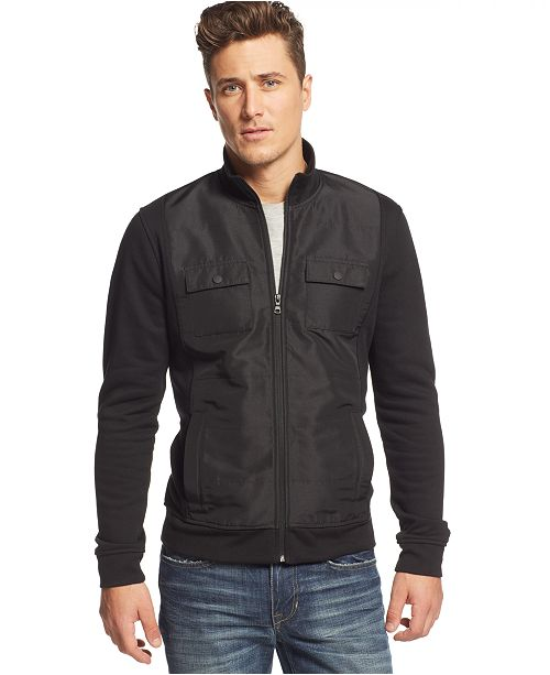 Alfani Men's Reyes Mixed-Media Jacket