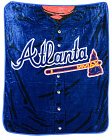 Northwest Company Atlanta Braves Plush Jersey Throw Blanket