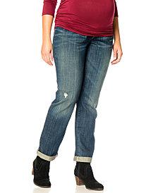 Motherhood Maternity Plus Size Cuffed Distressed Jeans