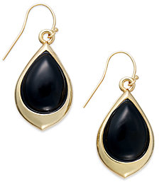 Signature Gold™ Onyx Teardrop Earrings (9-3/8 ct. t.w.) in 14k Gold over Resin