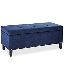 Catarina Fabric Storage Bench, Quick Ship