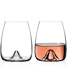 Waterford Elegance Stemless Wine Glass Pair
