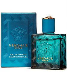Receive a Complimentary Deluxe Mini with any large spray purchase from the Versace Eros men's fragrance collection