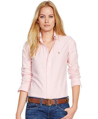 Womens White Ralph Lauren Polo Shirt