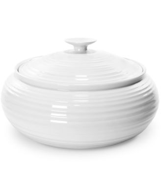 """Sophie Conran"" White Low, Covered Casserole, 6 pt."