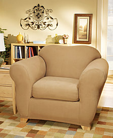 Sure Fit Stretch Suede Box Cushion Chair