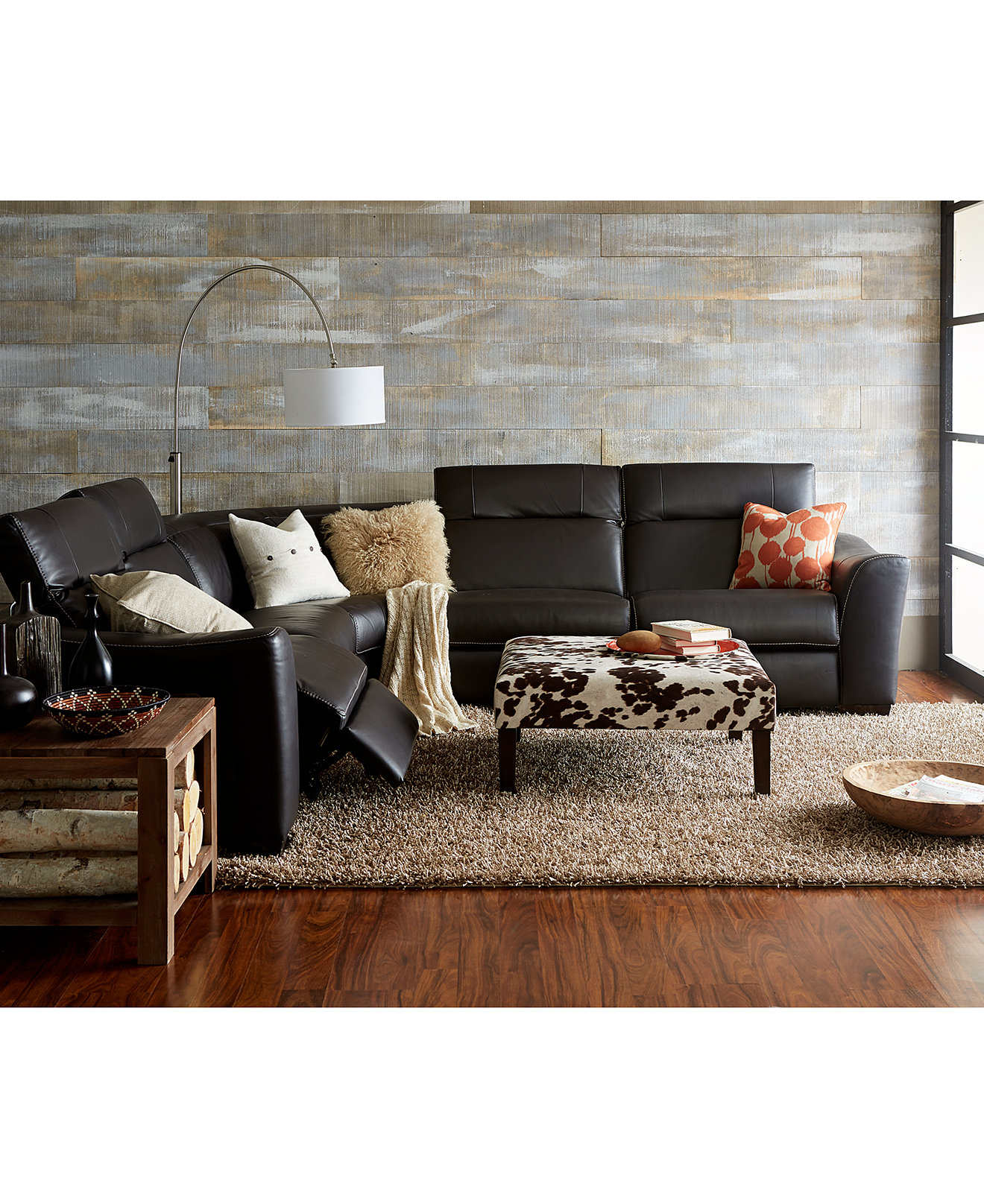 Leather Sectional Living Room Alessandro Leather Power Reclining With Articulating Headrest