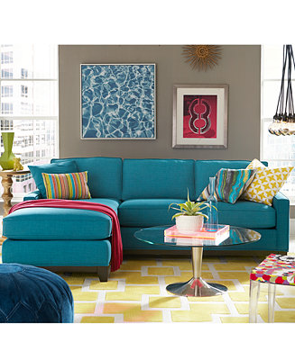 Keegan Fabric Sectional Sofa Living Room Furniture Collection Furniture M