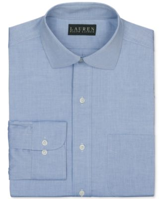 Image of Lauren Ralph Lauren Pinpoint Solid Dress Shirt