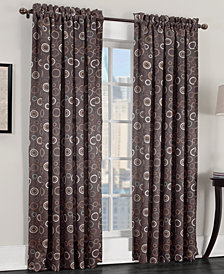 "CLOSEOUT! Sun Zero Rowan All Over Circle Pattern Room Darkening 54"" x 63"" Panel"