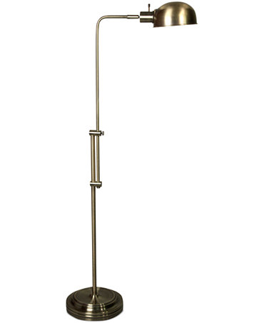 Stylecraft adjustable pharmacy floor lamp lighting for Macy s torchiere floor lamp