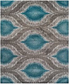 "Neo Grey Cove Teal 9'6"" x 13'2"" Area Rug"