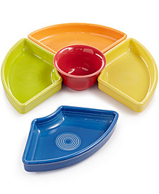 Fiesta Mixed Bright Colors 5-Piece Entertaining Set