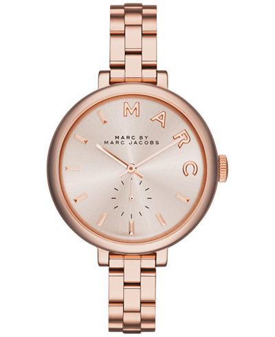 Marc by Marc Jacobs Women's Sally Rose Gold Ion-Plated Stainless Steel Bracelet Watch 36mm MBM3364