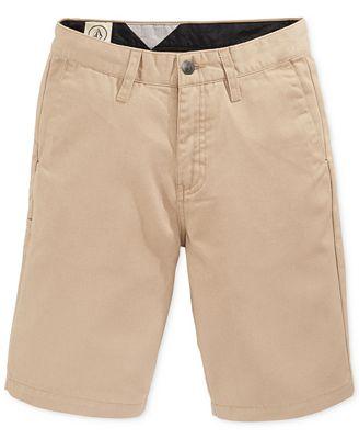 Volcom Boys' Frickin Chino Shorts - Shorts - Kids & Baby - Macy's