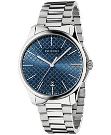 Gucci Unisex Swiss G-Timeless Stainless Steel Bracelet Watch 40mm YA126316