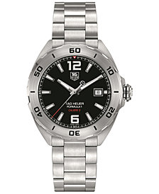 TAG Heuer Men's Swiss Automatic Formula 1 Calibre 5 Stainless Steel Bracelet Watch 41mm WAZ2113.BA0875