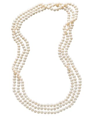 "Image of 100"" Cultured Freshwater Pearl Endless Strand Necklace (7-8mm)"