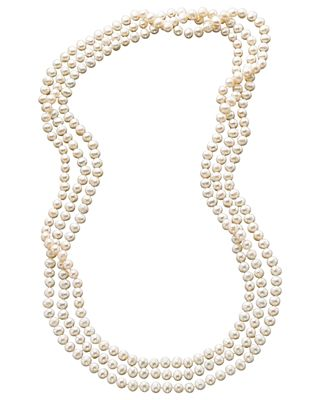 pearl bracelet macys 100 quot cultured freshwater pearl endless strand necklace 7 5379