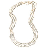 Deals on 100-in Cultured Freshwater Pearl Endless Strand Necklace