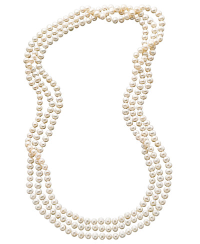 pearl bracelet macys 100 quot cultured freshwater pearl endless strand necklace 7 3268